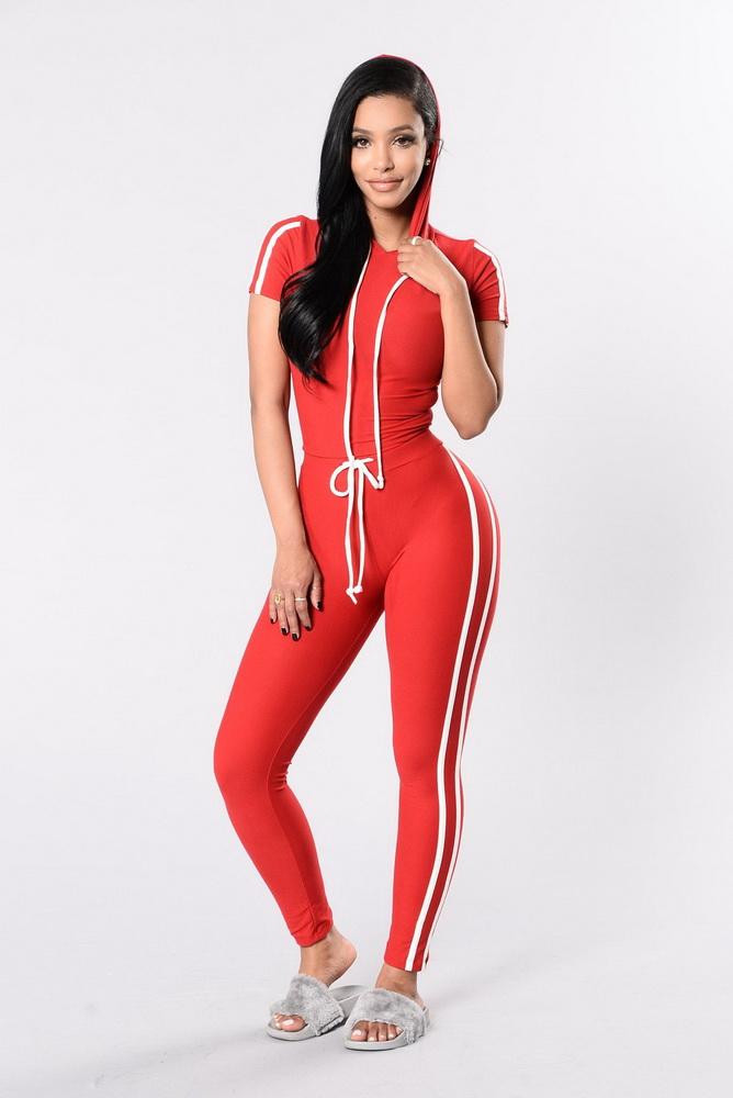 ML21780 Women Casual Tracksuit Women 2 Pieces Set Outwear Sweatsuit  Tracksuit Short Sleeve Top + Pants