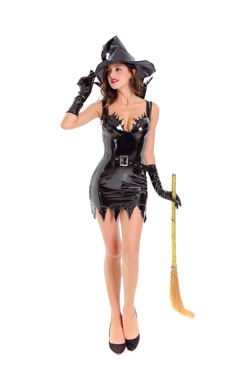 ML5583 Special Sexy Pu Dress Witch Costume
