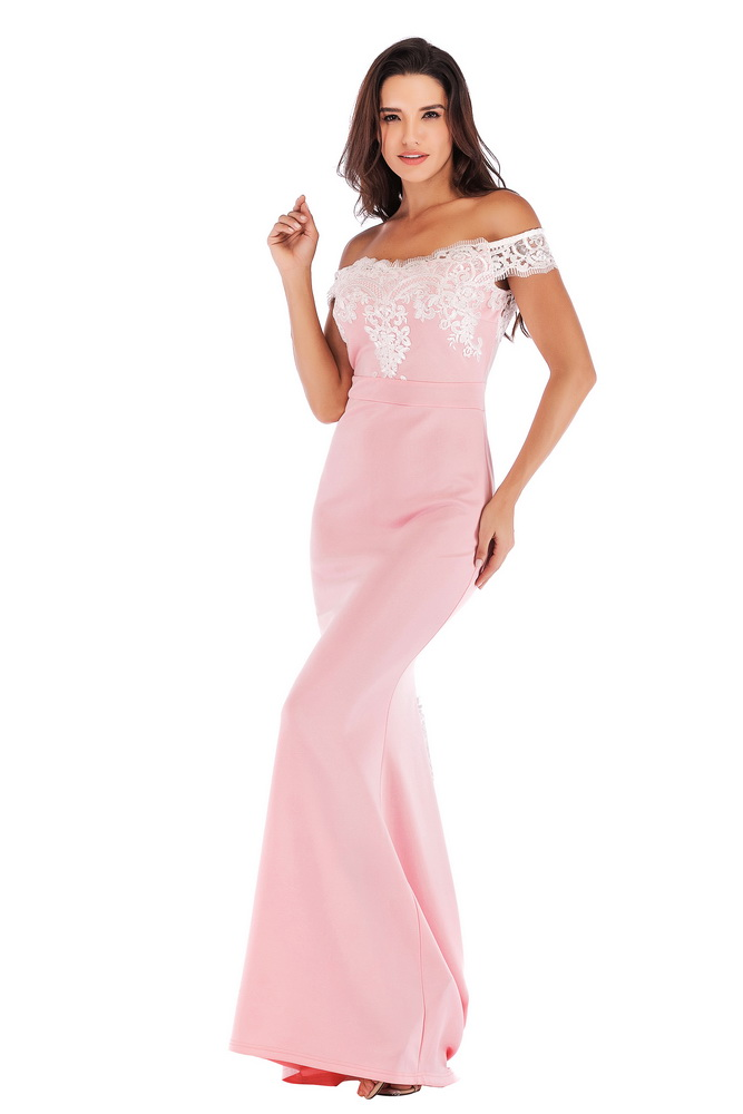 ML21418 Sexy Women Off Shoulder Sleeveless Bodycon Long Maxi Party Dress