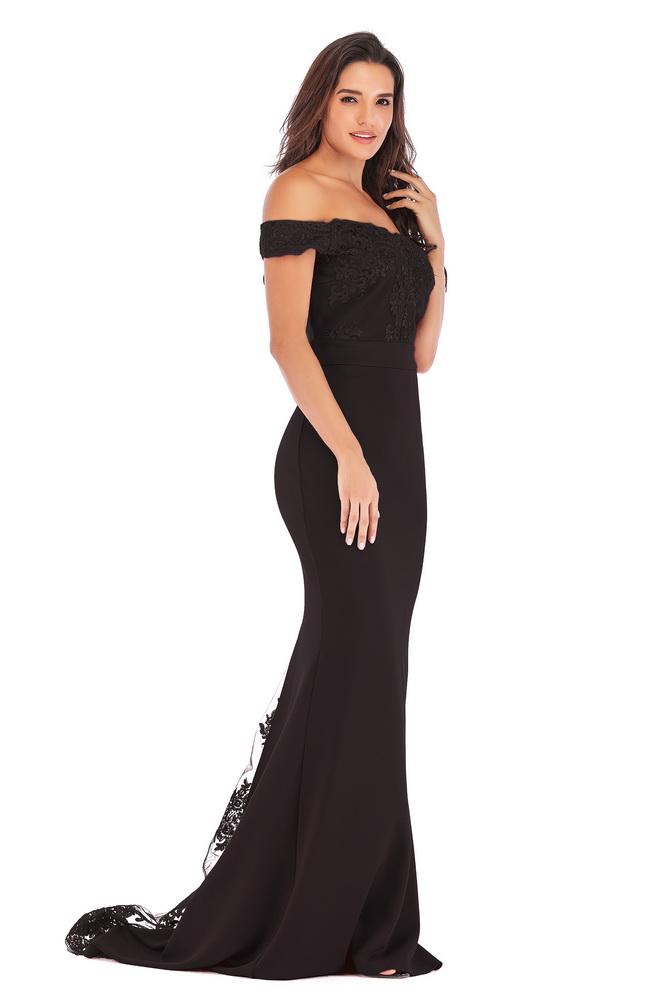 ML21419 Sexy Women Off Shoulder Sleeveless Bodycon Long Maxi Party Dress