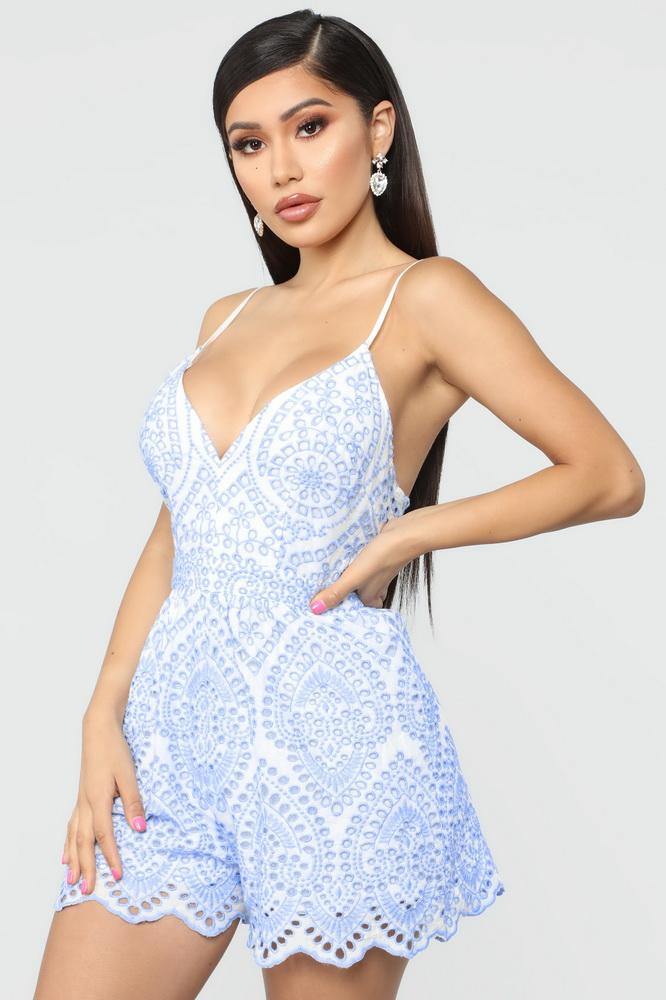 ML21889 Sexy Women Spaghetti Strap Bodycon Lace Casual Playsuit
