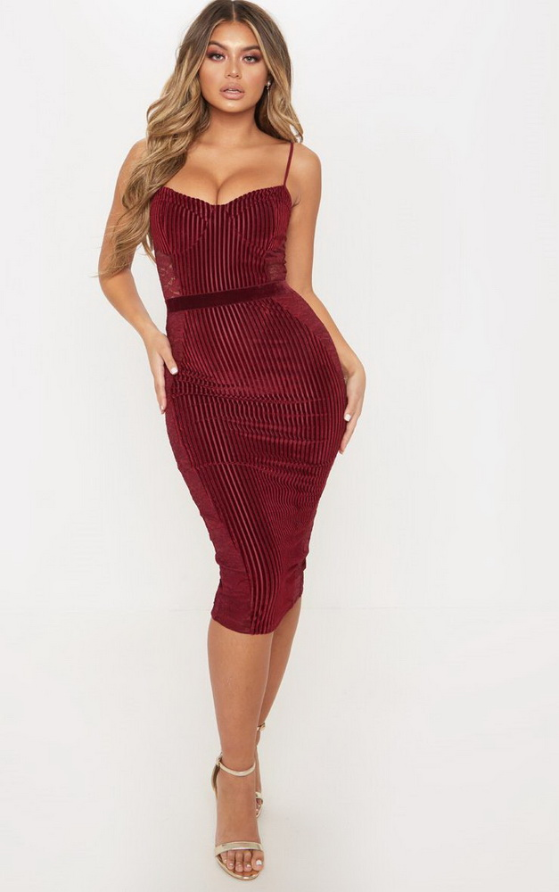 ML22443 Sexy Women Spaghetti Strap Bodycon Mesh Party Dress
