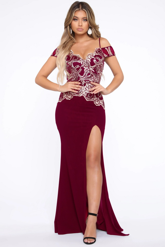 ML22918 Sexy Women Short Sleeve Bodycon Sequined Long Party Dress