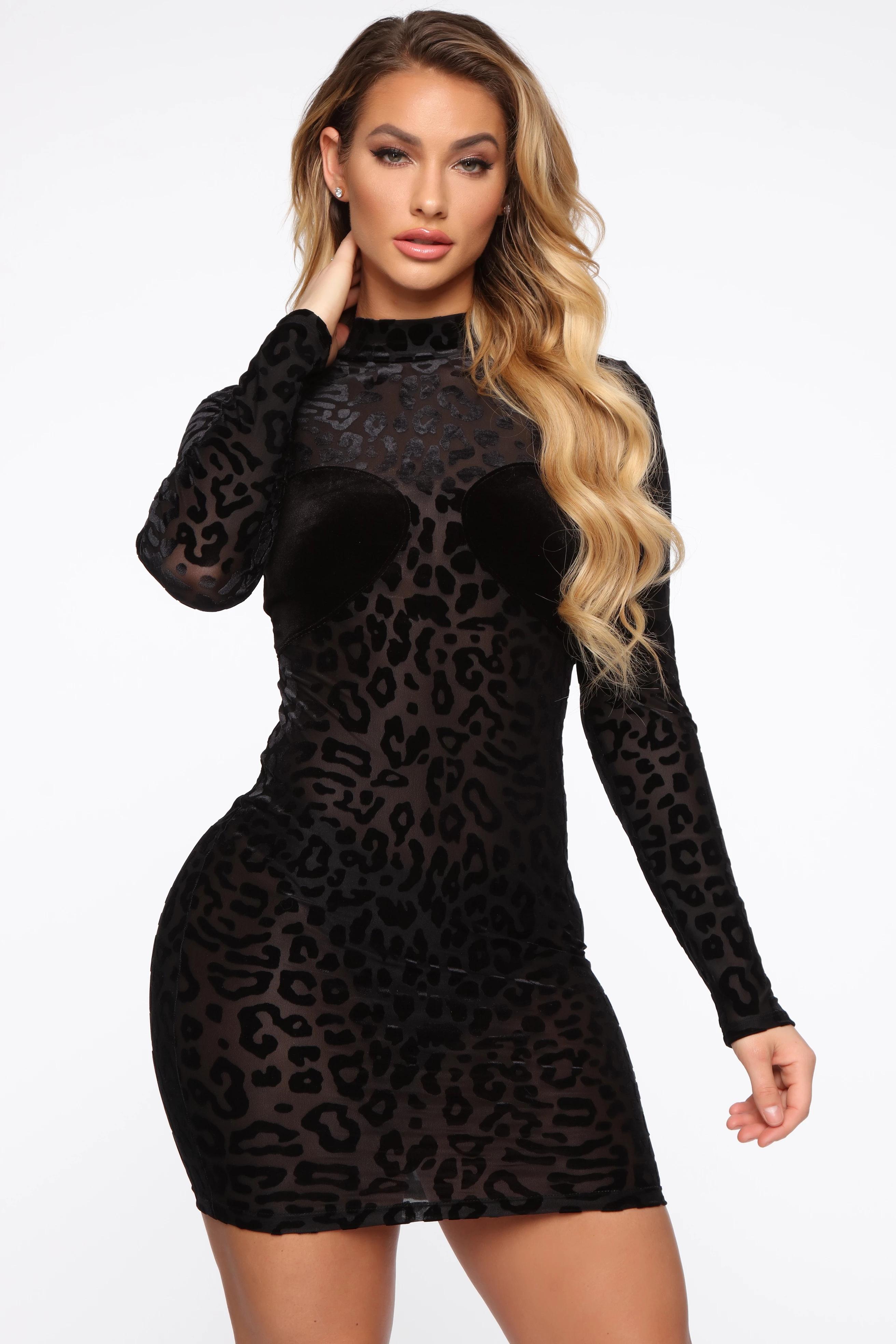 ML22775 Sexy Women O-neck Long Sleeve Bodycon Party Dress