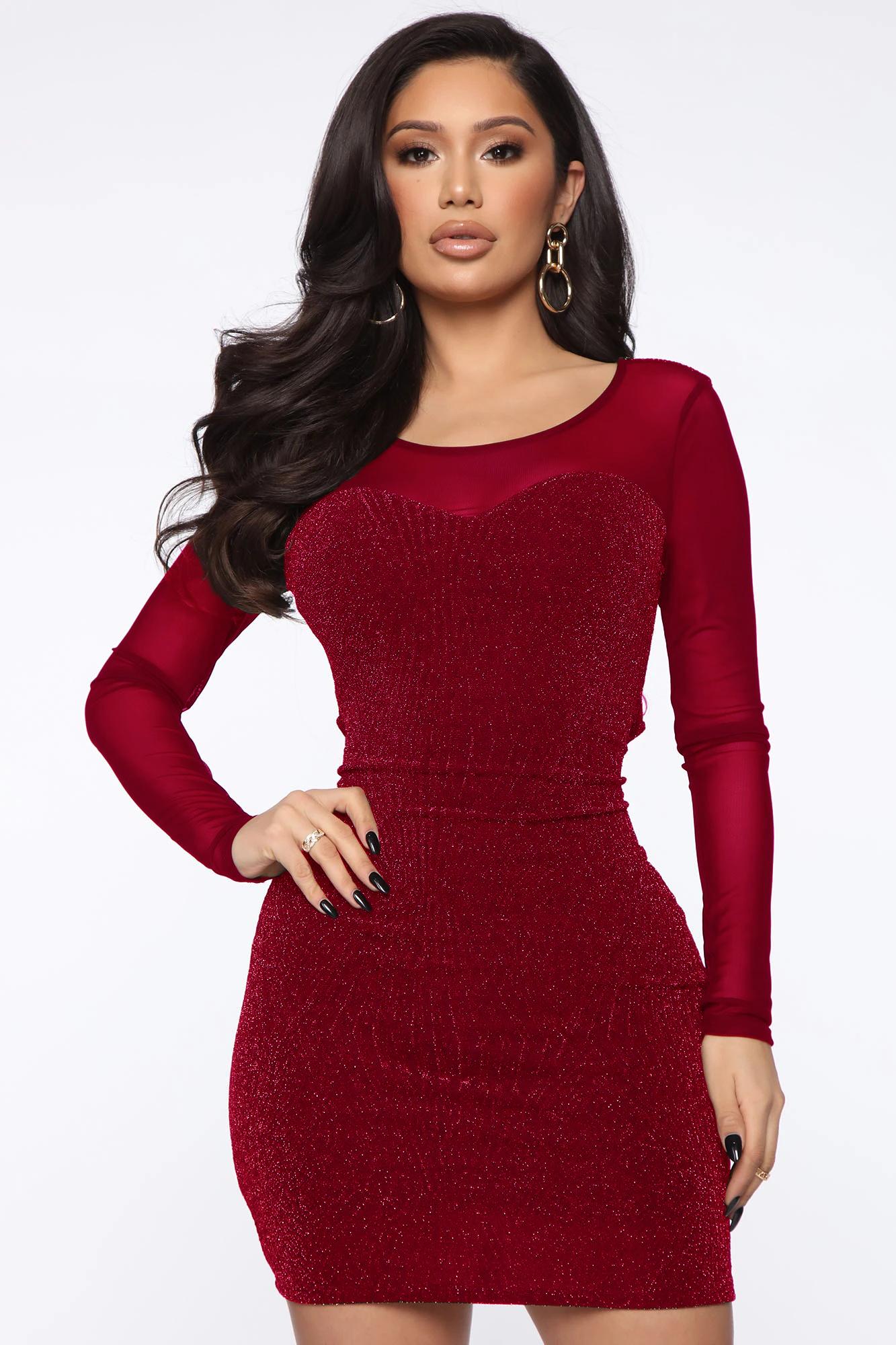 ML22777 Sexy Women O-neck Long Sleeve Bodycon Party Dress