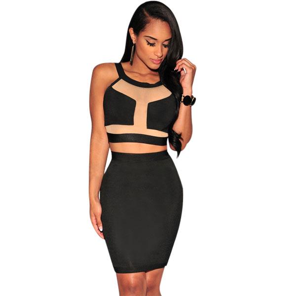 ML18530 Sexy Night Club Bandage Women Dress