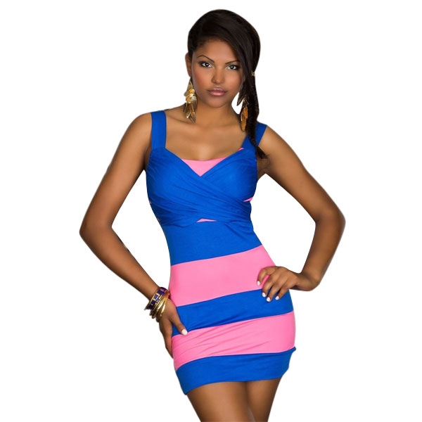 ML18531 Sexy Night Club Bandage Sleeveless Mini Dresses