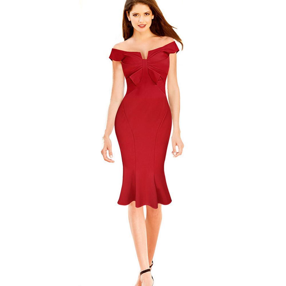 ML18668 Elegant Red Sexy Beautiful Sexy Dress