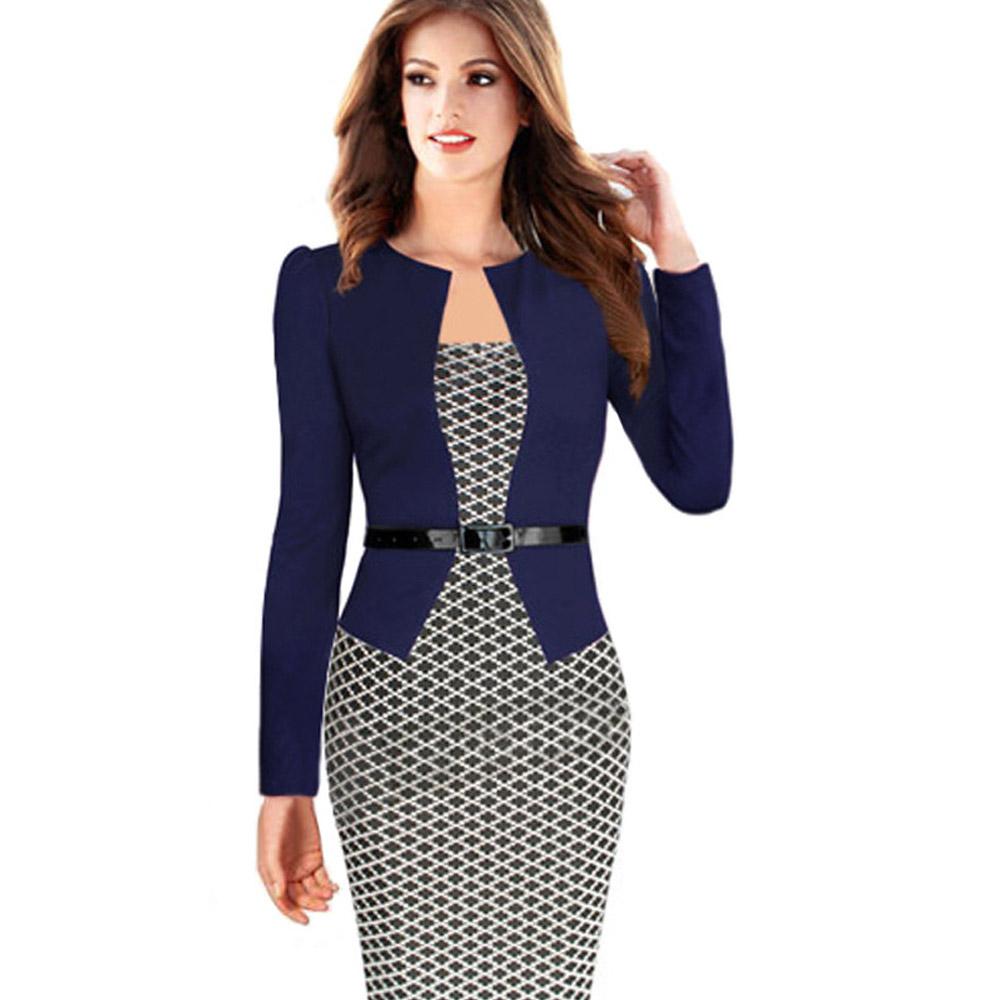 ML18681 Sexy Patchwork Plaid Design Lady Dresses