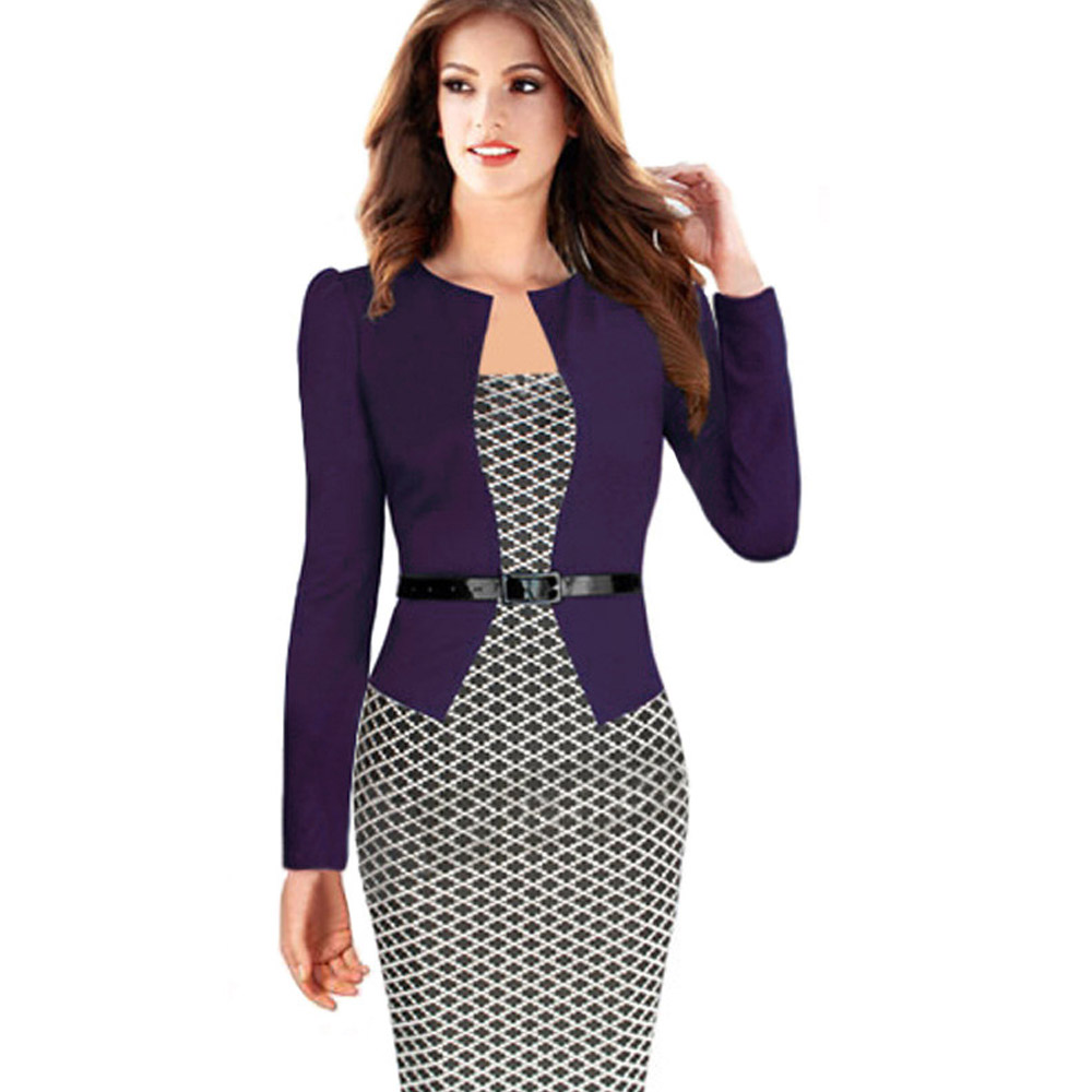 ML18682 Ladies Office Sexy Elegant Dresses