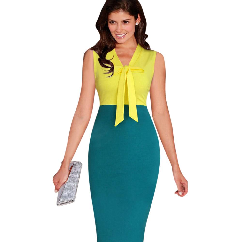 ML18712 Sexy Bodycon Mid Calf Women Work Dresses