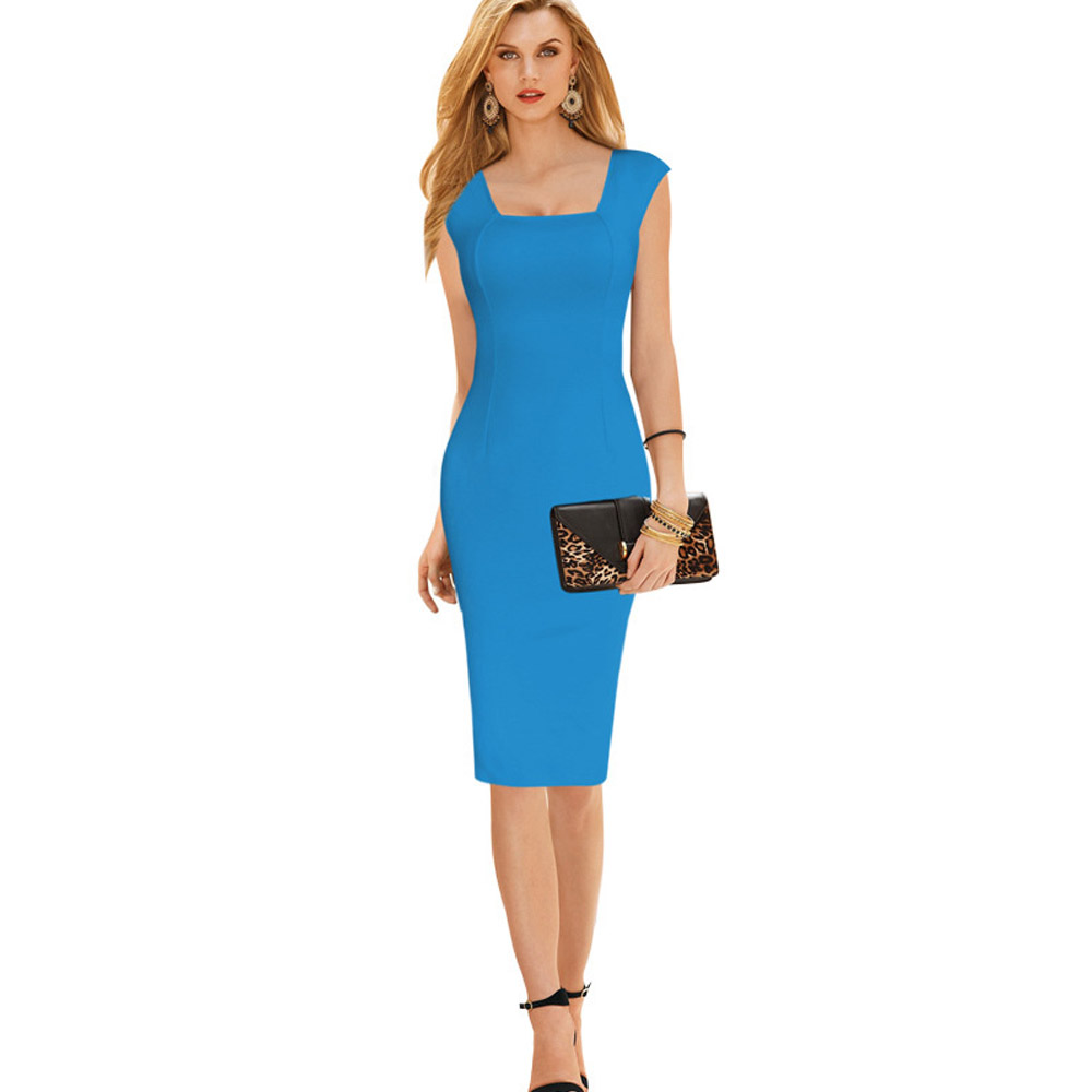 ML18747 Sexy Square Neck Bandage Party Dresses