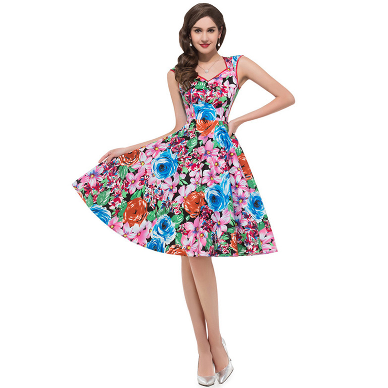 ML18825 Ladies New Arrival Sexy Floral Party Dress