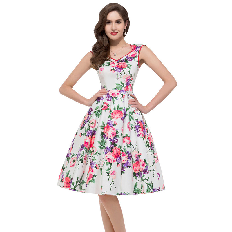 ML18827 Fashion Design Women Summer Print Dresses