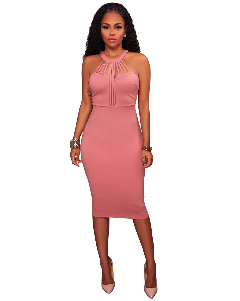 ML19983 Sleeveless Womens Formal Dress
