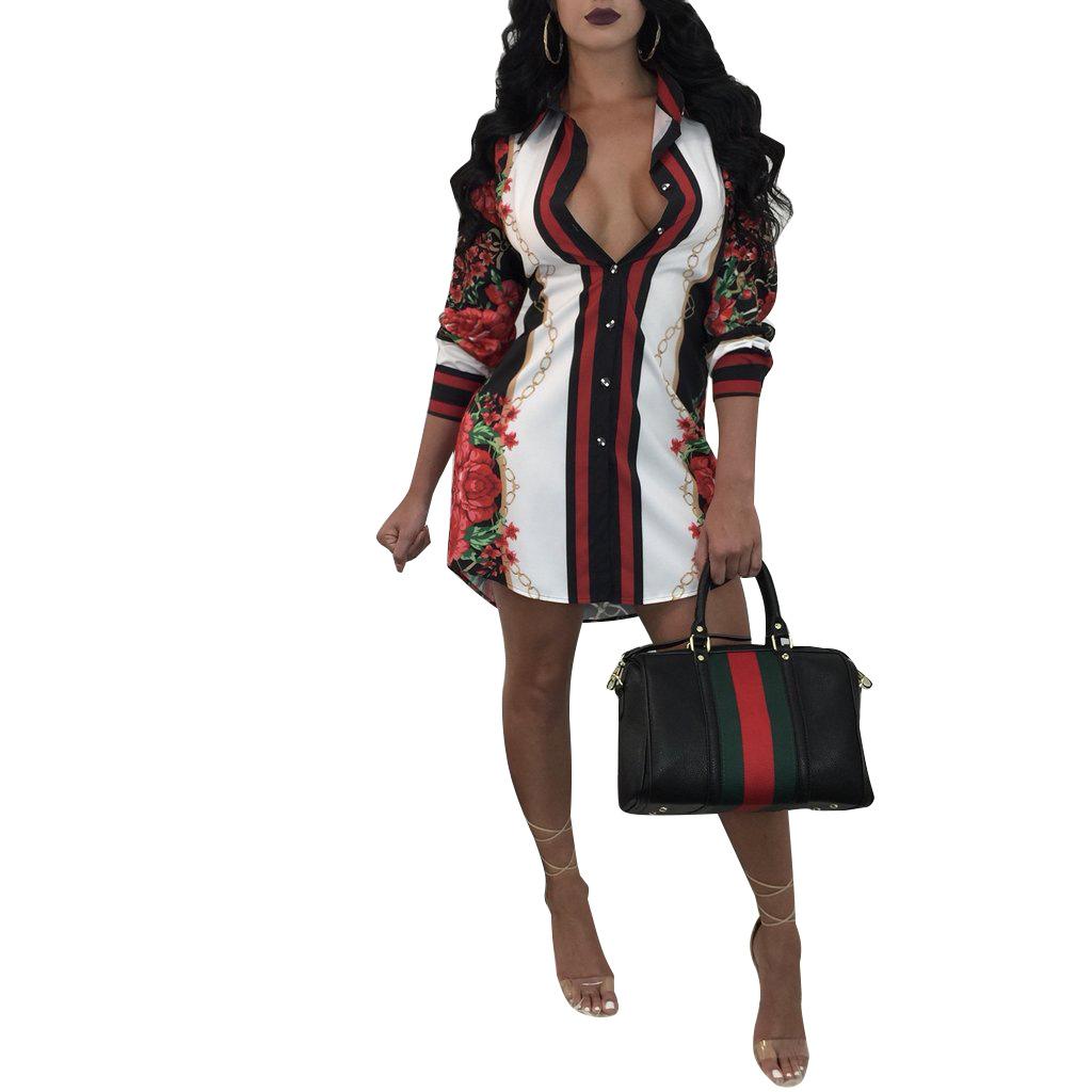 ML20006 Sexy Womens Shirt Dress