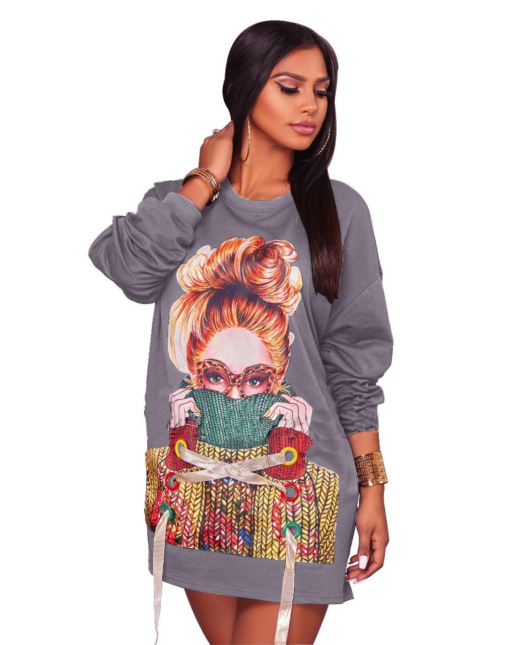 ML20081 Long Sleeve Mini Autumn Dress