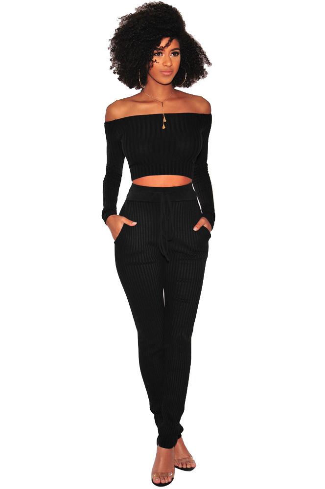 ML20372 Skinny Women Set With Pocket
