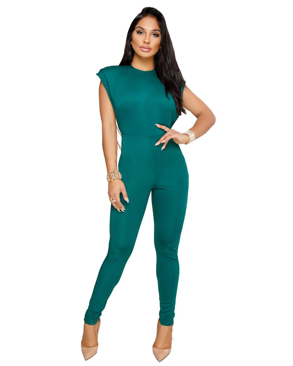 ML20407 Elegant Lady Fashion Long Jumpsuit