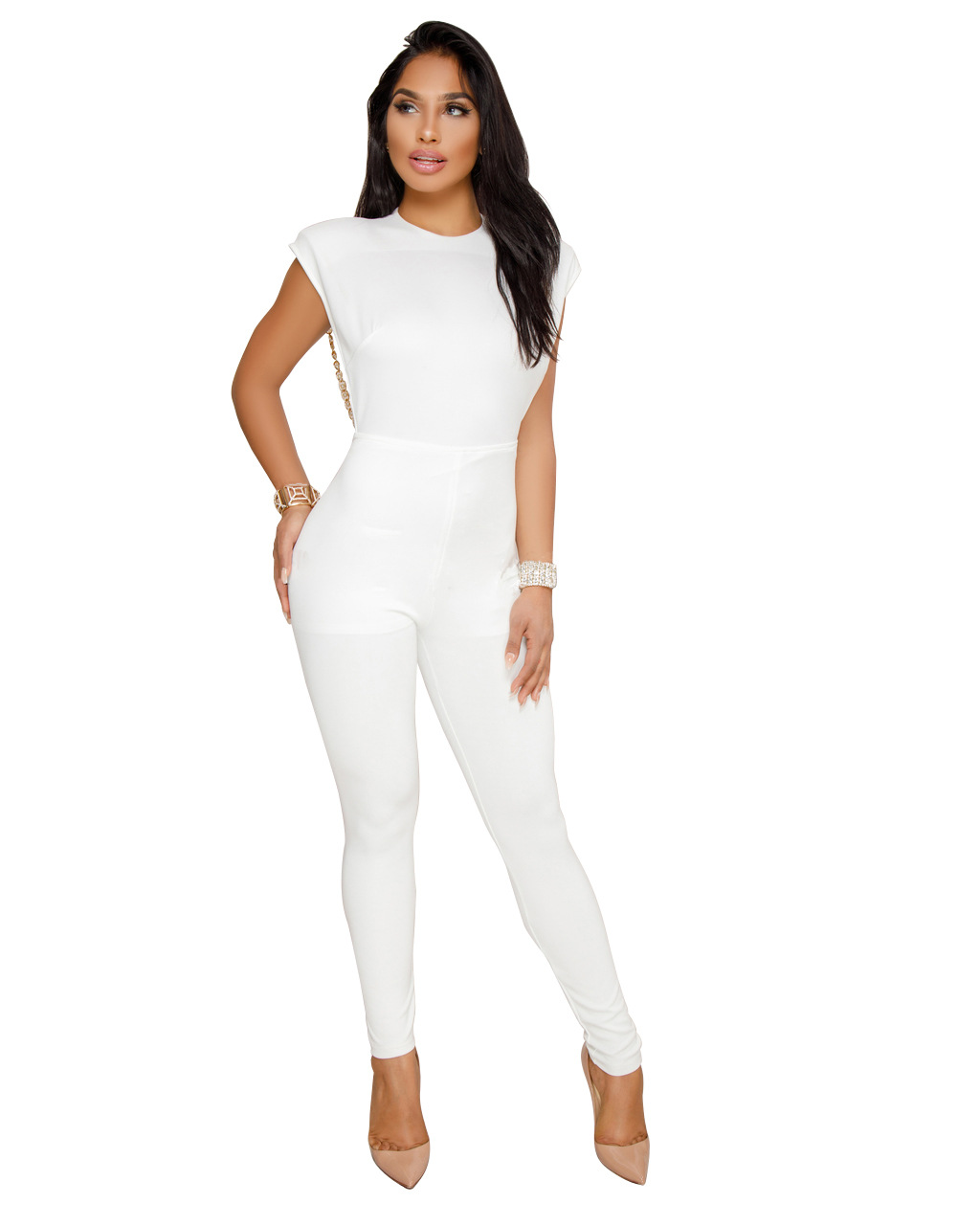 ML20408 Sexy Backless Women Rompers
