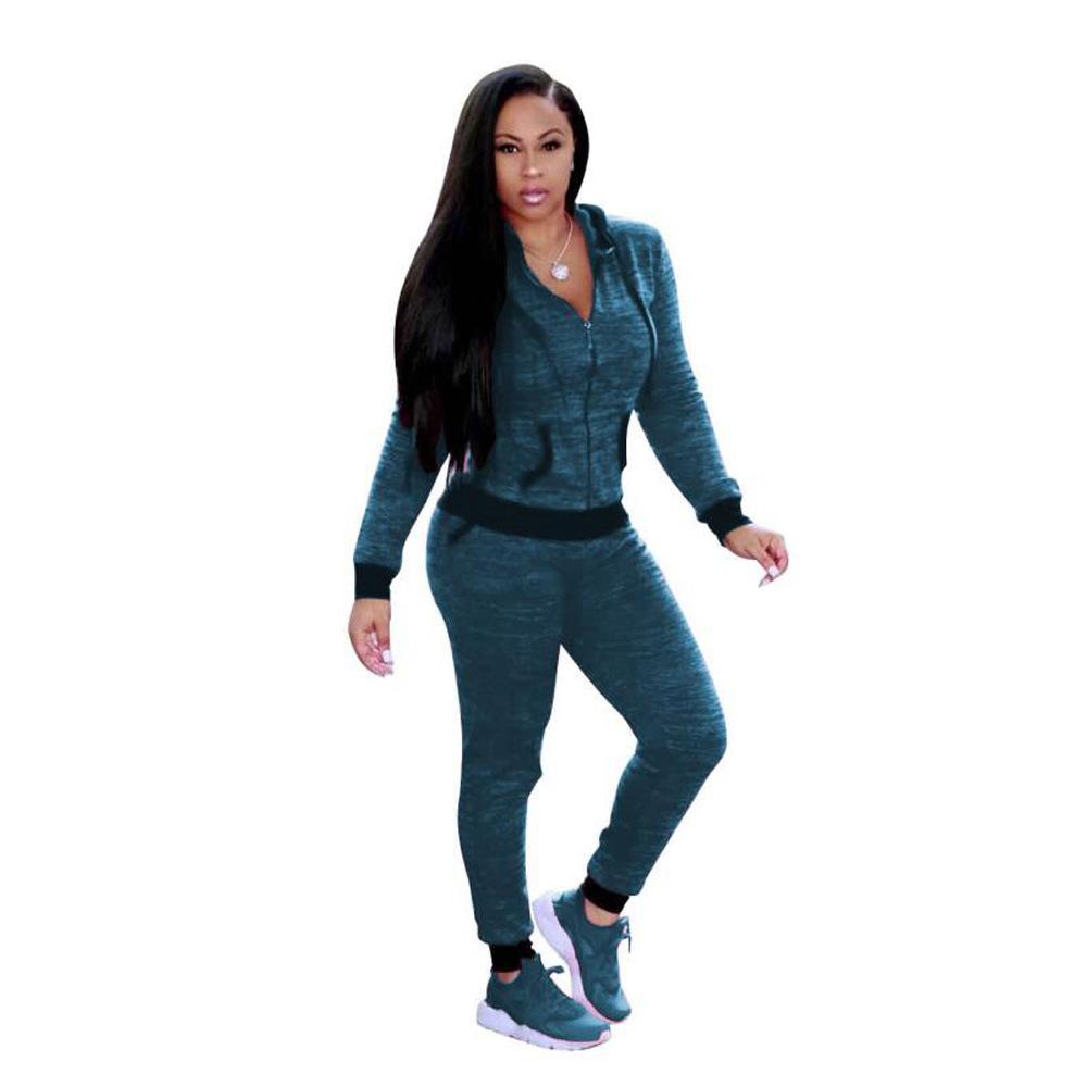 ML20502 Fashion Women Skinny Sexy Tracksuit