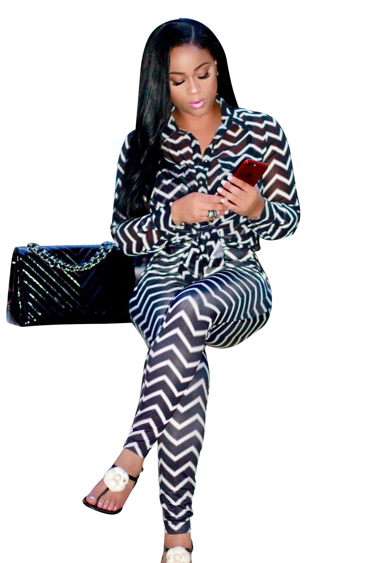 ML20504 Striped Fashion Women Set