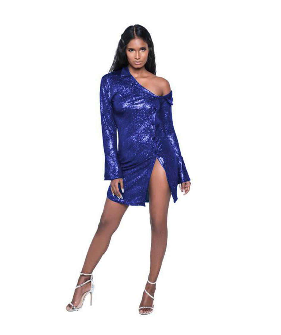 ML20510 Nightclub Lady Bodycon Fashion Dress