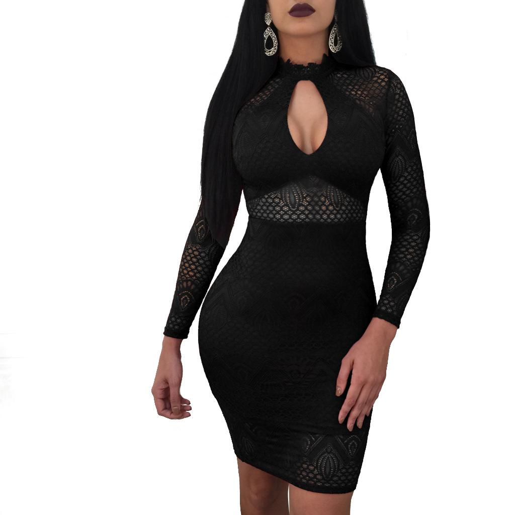 ML20575 Long Sleeves Mini Autumn Dress