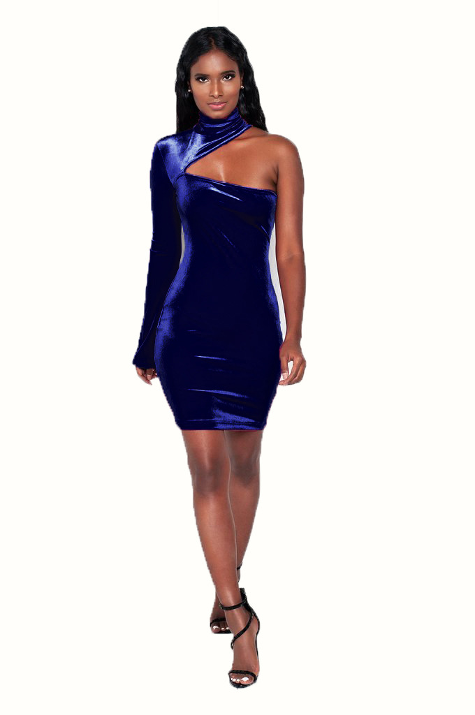 ML20587 Party Sexy One Shoulder Club Dresses