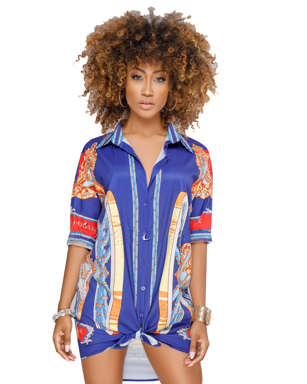 ML20790 Womens Hot Selling Newly Shirt Dresses