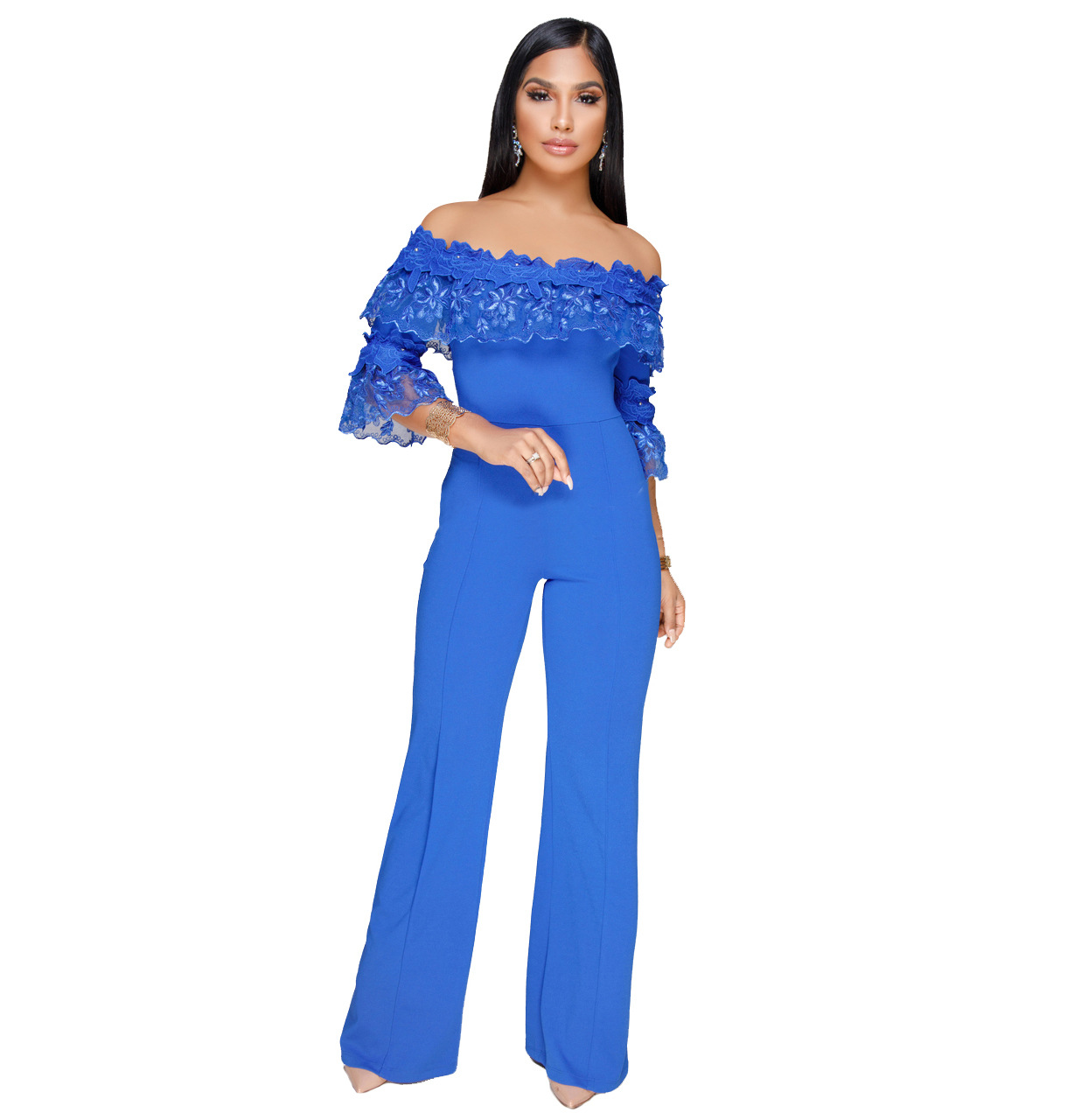 ML20794 Party Off the Shoulder Sexy Overalls