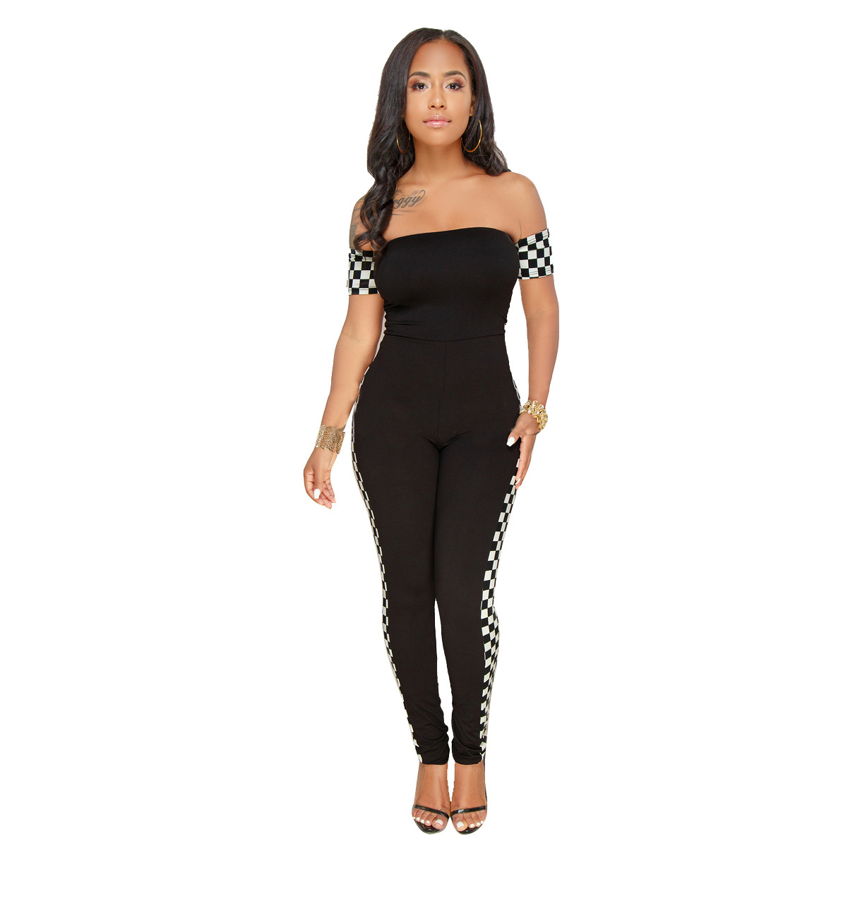 ML20809 Fashion Off Shoulder Women Jumpsuit