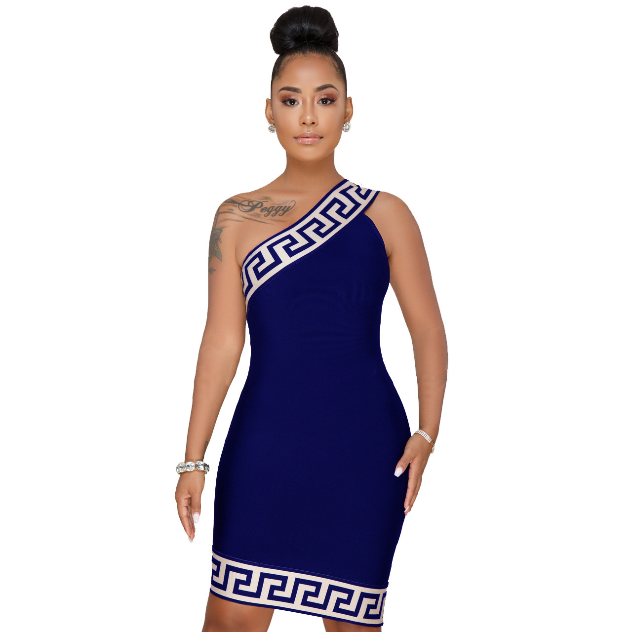 ML20822 Nightclub Short Women Bandage Dress