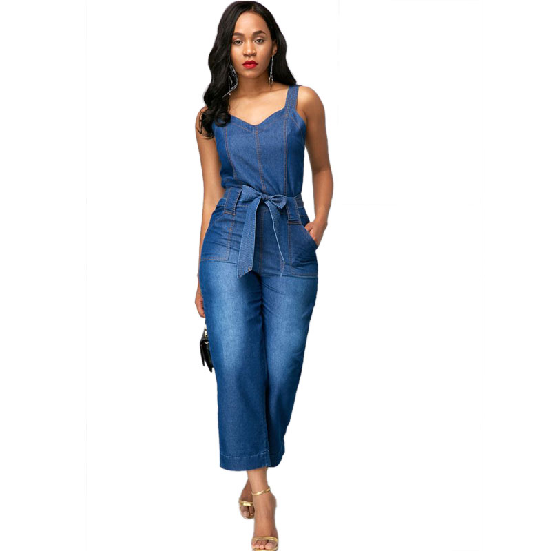 ML20842 Sexy Fashion Hot Selling Lady Denim Rompers