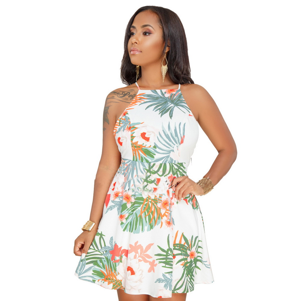 ML20916 Summer beach Style Short Women Dress