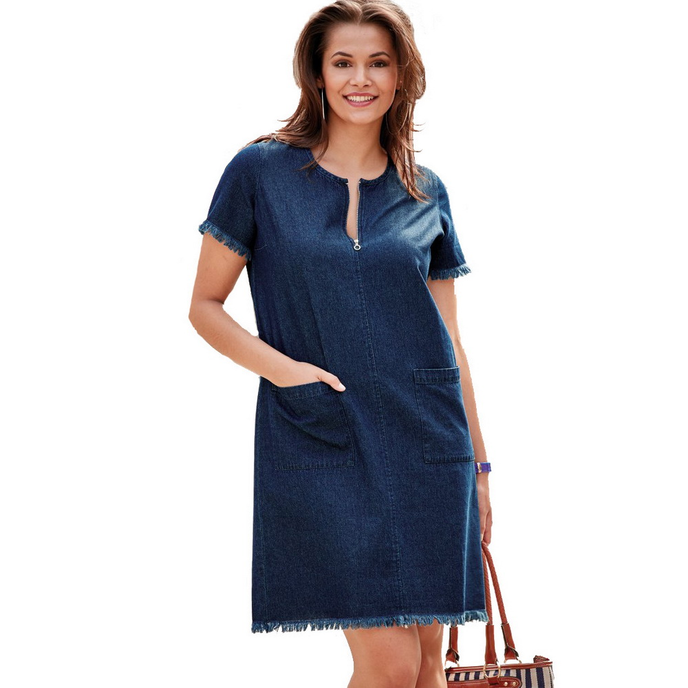 ML20942 Fashion Denim Casual Women Dresses