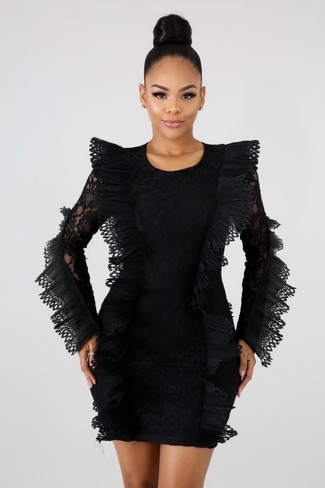 ML21708 Sexy Women O-neck Butterfly Sleeve Bodycon Party Mini Dress