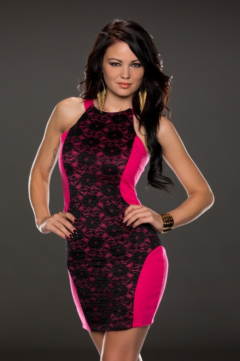 ML18088 M/XL available Rose Sexy Slim Figures Dress
