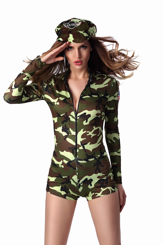 ML5470 Sexy Military Jumpsuit Costumes