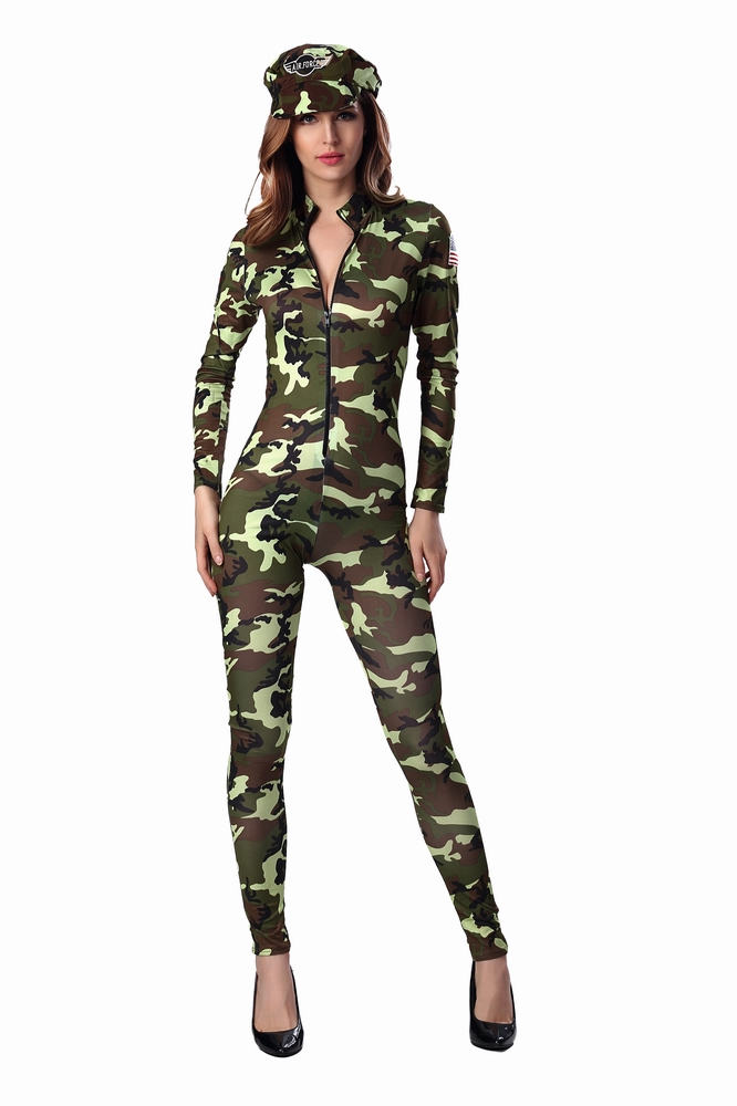 ML5471 Sexy Military Long Jumpsuit Costumes