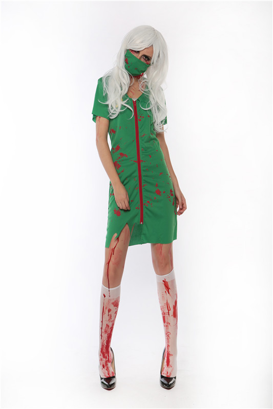 ML5512 Green Dress Easter Halloween Costume