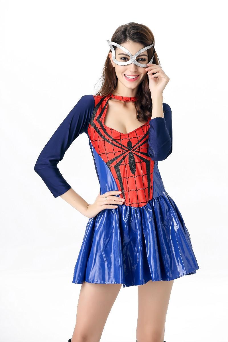 ML5561 Sexy Halloween Spider Girl Dress