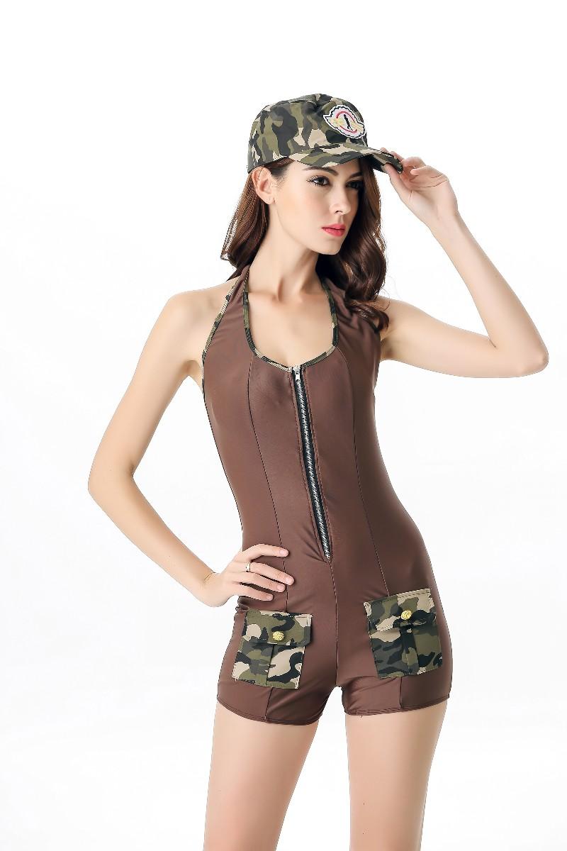 ML5563 Sexy Girl Soldier Camo Costume