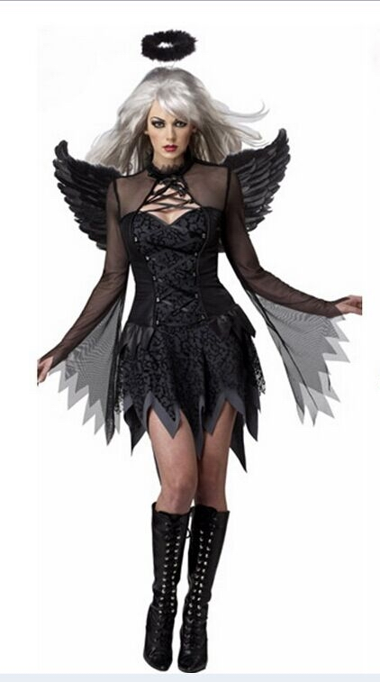 ML5397 Hot Selling Black Angel Halloween Costume