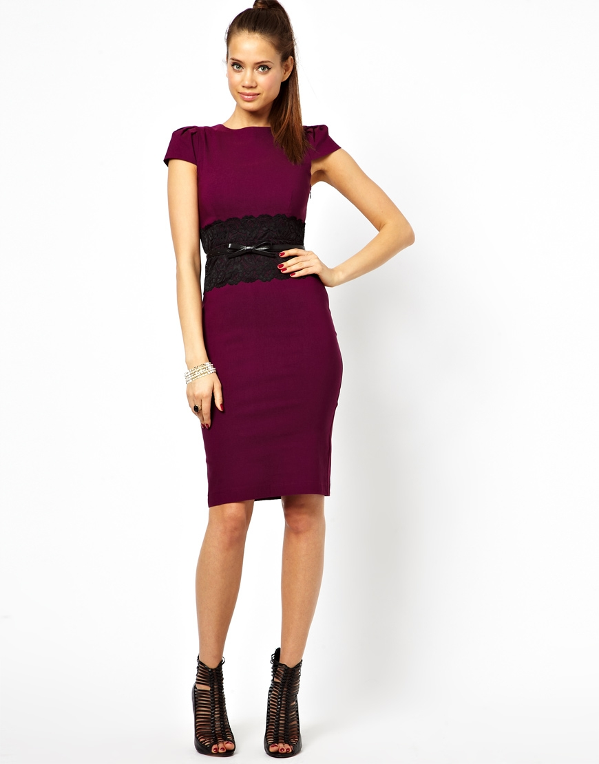 2014 dress with lace waistband