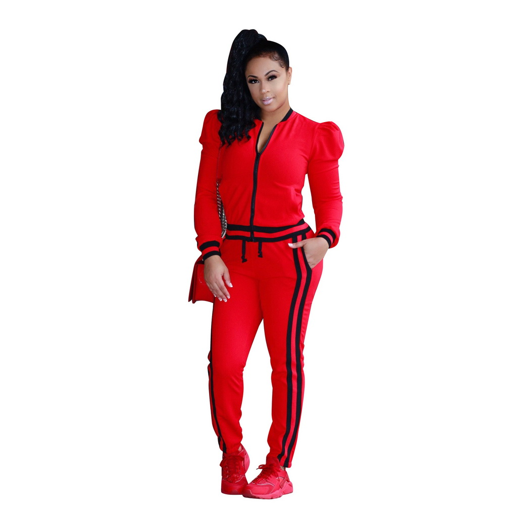 ML21283 Sexy Women 2 pieces Long Sleeve Antumn Tracksuits Sets