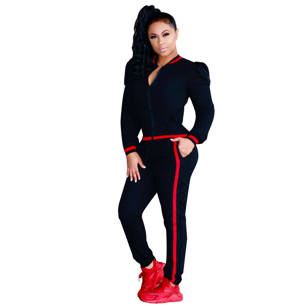 ML21282 Sexy Women 2 pieces Long Sleeve Antumn Tracksuits Sets