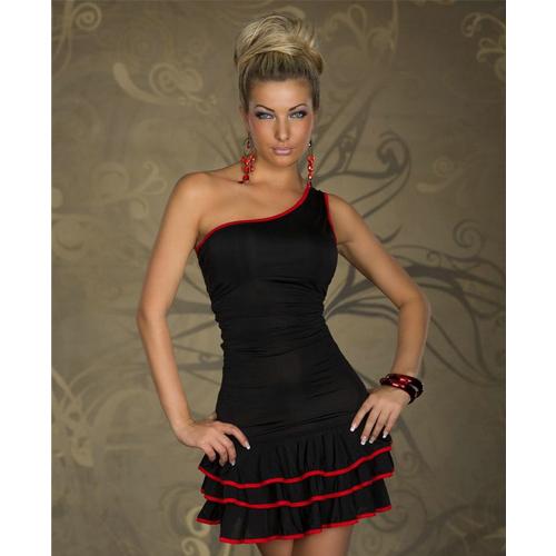 Sexy Fashion Black Mini Dress One Shoulder Clubwear Women Dress