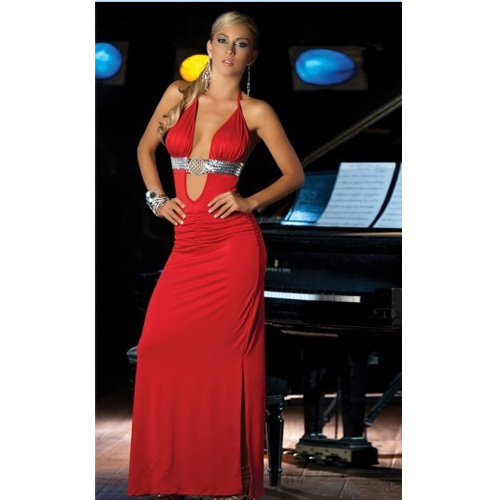 Sexy Red Spaghetti Strap Racerback Dinner Evening Dress New 2013 Dress