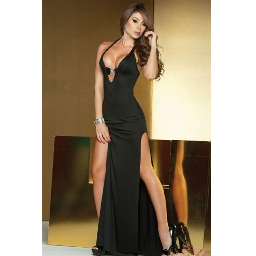 Sexy Black Long Gown Party Dress for Women